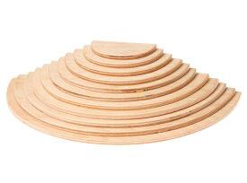 【すぐクーポンが使える】グリムス 半円盤ナチュラル(Large Semicircles, Natural, 11pieces)積み木 grimms 木のおもちゃ ラッピング無料 出産祝い 2歳 3歳 4歳 おもちゃ