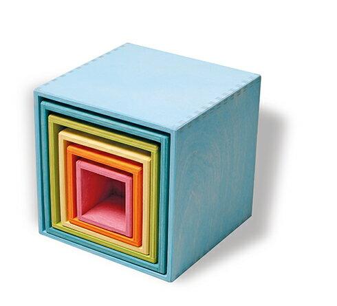 【送料無料】グリムス・箱積木・パステル Large Set of Boxs, pastel