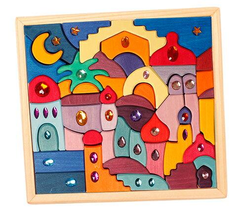 木のおもちゃ・積み木・グリムス・スパークリング・オリエント Building Set Sparkling Orient