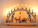シュヴィブボーゲン・月とサンタクロースとソリエルツ地方 ベティーナ・フランケ工房 ザイフェン クリスマス飾り ド…