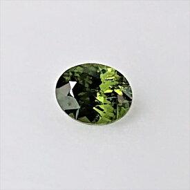 【新入荷】【宝石・ルース】オリーブ・ジルコン Olive Zircon 0.81ct 風信子石【レアストーン】【送料無料】4500 希少石 天然石 パワーストーン