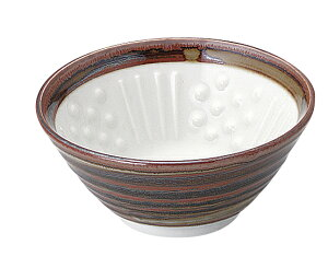 さび巻 納豆鉢(中)/ねり鉢/凸凹でふっくら/より美味しく/健康志向/納豆/美濃焼/日本製/