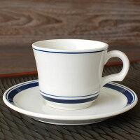 ネイビーブルーコーヒーカップ&ソーサー【コーヒー珈琲碗皿C&S器カントリーサイド美濃焼日本製】