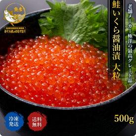 いくら 醤油漬け 大粒 送料無料 鮭 北海道加工 500g 冷凍 数量限定 お値打ち スポット セール いくら ひなまつり 母の日 手巻き寿司 ホームパーティー
