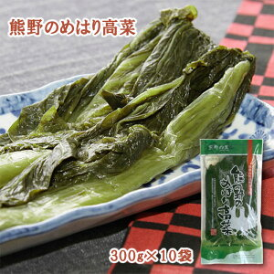熊野のめはり高菜300g×10袋 国産 熊野の里