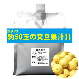 【2日9:59までポイント2倍★】無添加100%文旦果汁 2kgパック ストレート 岡林農園