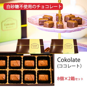 Cokolate(ココレート)白砂糖不使用 ボンボン風チョコレート 8個×2箱セット ギルトフリー スイーツ マンダナル Mandarn