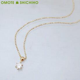 【中古】【005】VENDOME AOYAMA ヴァンドーム青山 ダイヤモンド プチネックレス K18 イエローゴールド レディース