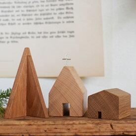 木製 小さなツリーセット|IKARI木工舎 クリスマス雑貨 クリスマスツリー 木製 かわいい おしゃれ プレゼント 小さい