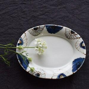 九谷焼 九谷青窯 高原真由美 花尽くし 楕円皿 │ うつわ 器 皿 作家ものの器