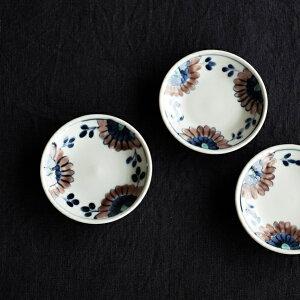 ●九谷青窯 高原真由美 色絵シオン 3.5寸皿● 小皿
