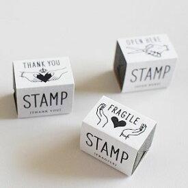 メール便対応 紙もの雑貨KNOOP ●スタンプ3種〈THANK YOU〉〈FRAGILE〉〈OPEN HERE〉●