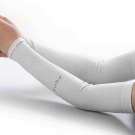 2枚セット 冷感 アームカバー UVカット クール 紫外線対策 涼しい UV手袋 日よけ 日焼け防止 指穴 手首 ランニング スポーツ キャンプ PR-ARMCOVER【メール便対応】