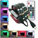 リモコン付き LED テープライト 2M 防水 60灯 RGBカラー 全20色 全22発光パターン イルミネーション 調光 USB接続 カ…