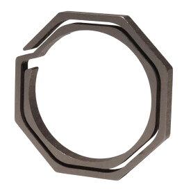 チタン製 キーリング 八角形 大タイプ キーホルダー カギ 鍵 軽量 丈夫 リング 直径29mm 内径23mm アクセサリー PR-TIRING-DAI【メール便対応】
