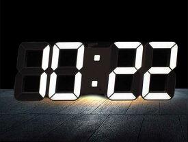 【再入荷!】LEDデジタル壁掛け時計 リモコン付 温度表示 インテリアモノトーン【送料無料】【即納】【2色選択】