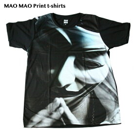 【送料無料】MAO MAO プリントTシャツ ブラックTシャツ メンズ アノニマス 祈り ハッカー サイバー攻撃 仮面 Vフォー・ヴェンデッタ おもしろTシャツ ストリート系 半袖