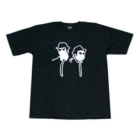 【送料無料】Broadway 映画Tシャツ コットンTシャツ ブラック メンズ ブルースブラザーズ The Blues Brothers アメリカ コメディアン バンド おしゃれ スケーター ストリート系 M/L/XL 大きいサイズ 半袖