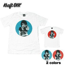 【送料無料】 Kraft BKK 映画Tシャツ コットンTシャツ ホワイト メンズ レオン LEON マチルダ ジャン・レノ ナタリー・ポートマン おしゃれ スケーター ストリート系 M/L/XL 大きいサイズ 2カラー 半袖