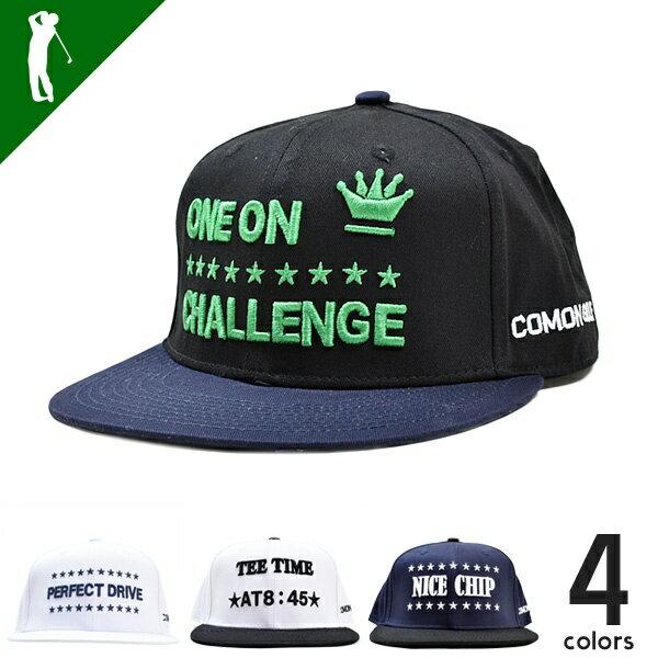 SALE ゴルフ 帽子 キャップ メンズ おしゃれ ゴルフ用品 スポーツ用品 メンズ グッズ 小物 オールシーズン メンズサイズアジャスター付COMON GOLFまっすぐバイザーベースボールタイプキャップ(CG-CP8158B)