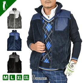 ゴルフウェア メンズ ベスト トップス 秋 冬 防寒 おしゃれ ゴルフ ウェア フリース トップス ウェア スポーツウェア 大人 アウターベスト アウター M〜XXLフリースゴルフベスト(CG-JV922)