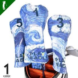 ゴルフ ヘッドカバー ゴルフ用品 カバー ウッド 1W FW 収納用品 スポーツ用品 メンズ ゴルフ グッズ 小物 オールシーズン メンズ おしゃれPLAYEAGLEドライバー&フェアウェイウッドカバー3Pセット(IF-GF0061)