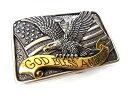 【ネコポス(メール便)対応!】 USA ■NOCONA(ノコナ)■ 「GOD BLESS AMERICA」 イーグル&星条旗 バックル 42mm幅対応…