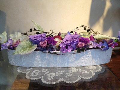 野菜 プリザーブドフラワー プリザ バラ パープル