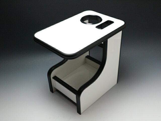 【売り切り! お買い得】C25セレナ(05/5〜) センターテーブル ホワイト オールブラック