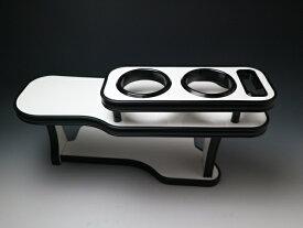 【売り切り! お買い得】バモスMC後(01/9〜) フロントテーブル ホワイト オールブラック 携帯右