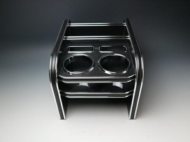 【売り切り! お買い得】C27セレナ(16/8〜) フロントセンターカップホルダー ブラックウッド BKxシルバー