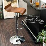 【送料無料】シンプルカウンターチェアバーチェアデザインチェアシンプルチェア椅子イスチェアカウンターチェア360度回転ガス圧昇降機能足置き滑り止め付きプライウッドプラントン
