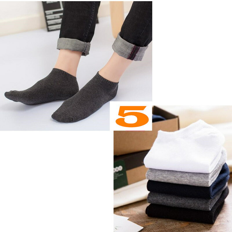 メンズ フットカバー 5足組 5カラー メンズカバー ソックス インナーソックス 靴下 伸縮性あり 通気性抜群