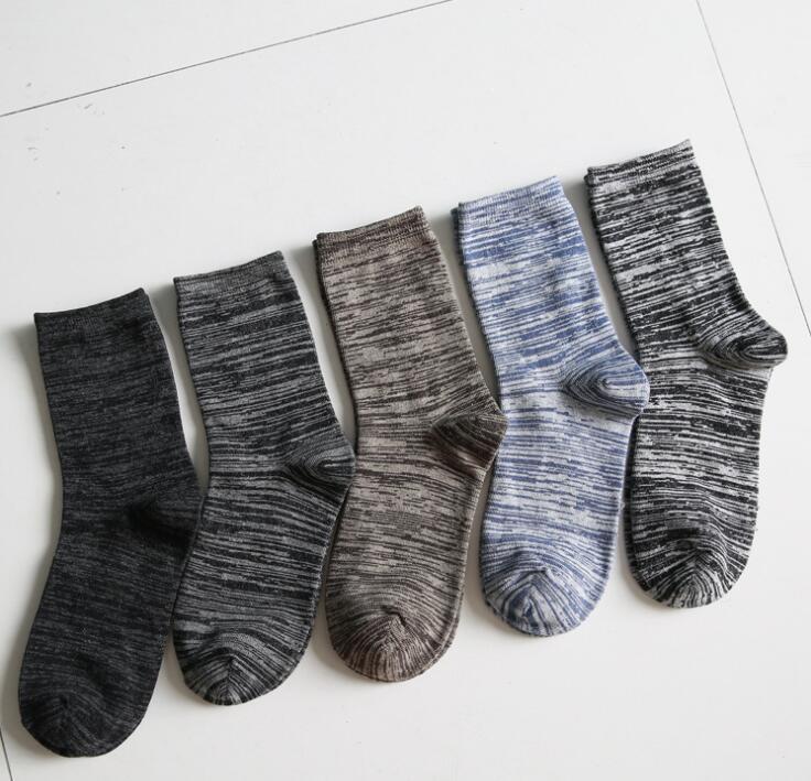 メンズ ロングソックス カラフル オシャレ 5足組 5カラー メンズカバー 毎日を彩る ソックス インナーソックス ハイソックス ビジネスソックス 通勤 通学 スニーカー 靴下  伸縮性あり
