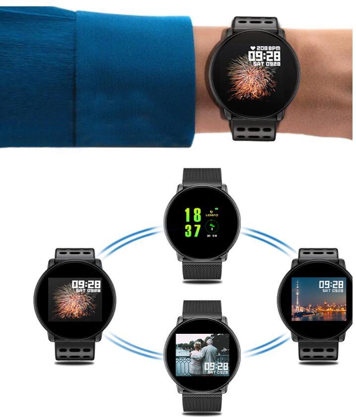 新作 スマートウォッチ アウトドアウォッチ  1.33インチ2.5D強化ガラススクリーン 心拍数検出付き 軽量 ミラネーゼ 強化ガラス DIY 腕時計 フェイスマルチスポーツモード 心拍モニター
