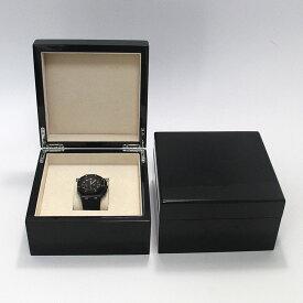 難あり 擦り傷等 高級 木製 ウォッチボックス 1本収納 ブラック 光沢 木製 BLACK 艶 時計 収納ケース 高級 腕時計ケース ウォッチボックス 上品 金具 艶あり 腕時計 時計 時計  展示 ディスプレイ コレクション ディスプレイ