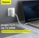 【Baseus】正規品 USB-C PD 急速充電器 120W 3ポート GaN (窒化ガリウム)採用 折畳式プラグ搭載 ACアダプター Power …