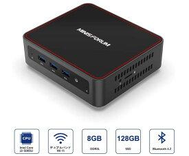 MINISFORUM U500-HミニPC Core i3-5005Uプロセッサ Windows 10 Pro搭載小型パソコン 8GB DDR3L+128GB SSD ストレージ拡張3画面同時出力可能 4K出力 2xギガビットイーサネットポート PXEブートWOL対応 超静音 省エネデスクトップパソコン