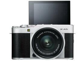 FUJIFILM ミラーレス一眼カメラ X-A5レンズキット シルバー X-A5LK-S