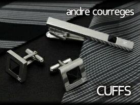 【andre courreges】アンドレ・クレージュ カフス ブラック スワロフスキー CC6011 【セットではありません】【あす楽】
