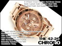 【NIXON】ニクソン メンズ クロノグラフ 腕時計 THE 42-20 CHRONO 42-20クロノ オールローズゴールド ステンレス A037…