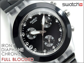 Swatch讽刺计时仪手表FULL BLOODED NIGHT furuburaddiddonaito SVCK4035G