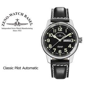 【ZENO WATCH】ゼノウォッチ パイロット Classi Pilot Automatic 自動巻き メンズ 腕時計 ブラック 6554DD-A1