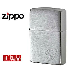 【ZIPPO】 ジッポー オイルライター Initial イニシャルY US加工 シルバー INITIAL-Y