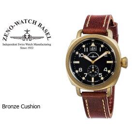 【ZENO WATCH】ゼノウォッチ ブロンズ Bronze Cushion クォーツ メンズ 腕時計 ブラック ブラウン ZN101-BK-BR