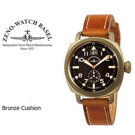【ZENO WATCH】ゼノウォッチ ブロンズ Bronze Cushion クォーツ メンズ 腕時計 ブラック ブラウン ZN101-BR-CM