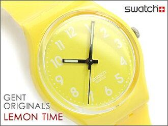 斯沃琪中性手表时间柠檬百里香黄 GJ128