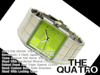 Nixon Mens Watches THE QUATRO Quattro lime stainless A013-536