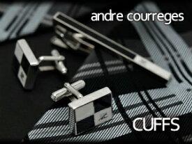 【andre courreges】アンドレ・クレージュ カフス ブラック×ホワイト CC6004B 【セットではありません】