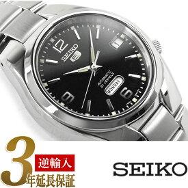 【逆輸入 SEIKO5】セイコー5 セイコーファイブ 機械式自動巻き メンズ 腕時計 ブラックダイアル ステンレスベルト SNK623K1【あす楽】